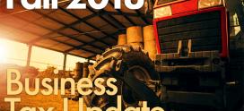 Fall 2018 Business Tax Update